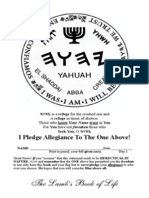 photo about Oath and Covenant of the Priesthood Printable identified as THE BESORAH OF YAHUSHA Septuagint Names Of God Inside Judaism