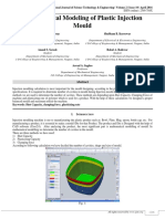 Mathematical Modeling of Plastic Injection Mould