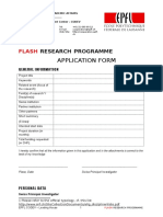 FLASH Projects - Application Form