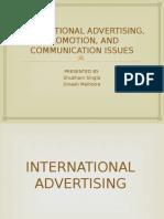 International Advertisement, Promotions, And Communication