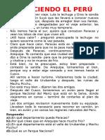 CONOCIENDO EL PERÚ 3° Y 4°