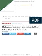 Malaysia's Economy Expanded 5