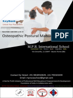 Program BrochuInformation Brochure Master Certificate in Osteopathic Postural  Manual Therapiesre