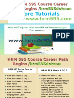 HRM 595 Course Career Path Begins Hrm595dotcom