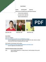 Kyle Soccer Resume 7 14 2016