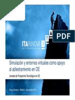 2014 11 20 - Jornadas OP. ESP. - Simulaciu00F3n y Entornos Virtuales_OE_ITAINNOVA