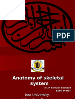 Anatomy of Skeletal System by Dr. Farrukh