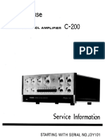 Accuphase C 200 Service Manual