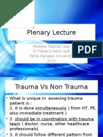 Plenary Lecture-Multiple Trauma 8Okt2015