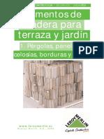 Elementos de Madera Para Terraza y Jardín 1