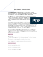 Proyecto Articulación Nivel Inicial y Educación Primaria