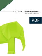 2016 Lsat 12 Week Study Schedule Long