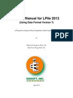 LPile 2013 User Manual