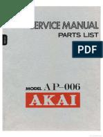 Akai AP 006 Service Manual