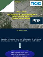 GEOGRAFIA DE OPORTUNIDADES Y LOGICA ECONOMICA DE  LAS POLITICAS URBANAS-Gabriel Losano