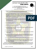 Crime Solvers Report 7-6 THRU 7-12-2016