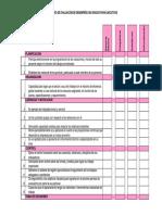 Formulario Evaluación Del Desempeño Para Ejecutivos