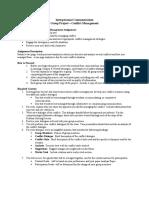 Conflict Management Project - SLCC