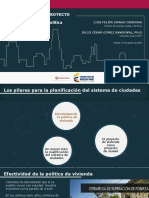 De La Vivienda Al Proyecto de Ciudad Logros y Retos de La Politica Territorial