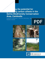 Assessing the potential for generating carbon offsets in the Seima Biodiversity Conservation Area, Cambodia