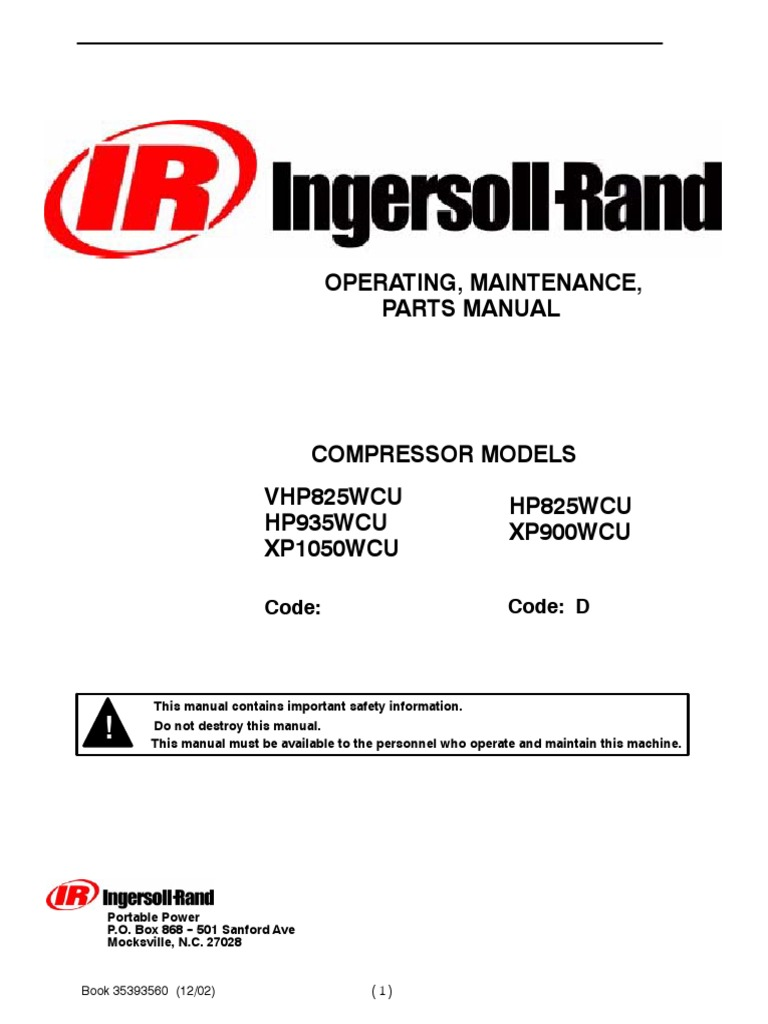 Doosan Portable Power Ingersoll Rand Lightsource Ls Light Tower In.  35393560 Pdf Valve Engines