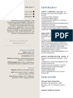 Creative Formal Resume template