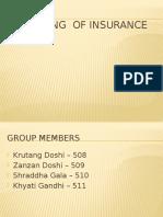 Marketing of Insurance Final Ppt
