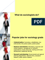 pres - what do sociologists do