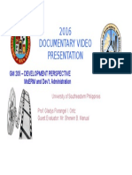 2016 Documentary Video Presentation