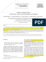 Aesthetic Package Design- A Behavioral, Neural, And Psychological Investigation