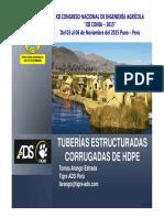 Tub Corrugadas de HDPE-XII-CONIA-2015 Presentación