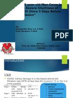 Chronic Kidney Disease ec Susp Glomerulonerfritis + Congestif Heart Failure