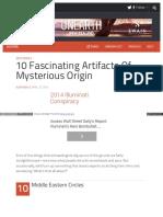 10 Affascinanti Manufatti Di Origine Misteriosa - Listverse