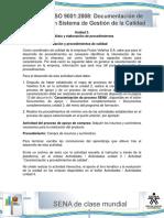 Actividad de Aprendizaje Unidad 3 Caracterizacion y Procedimientos de Calidad