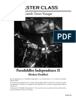Master Class - Paradiddles Independence II
