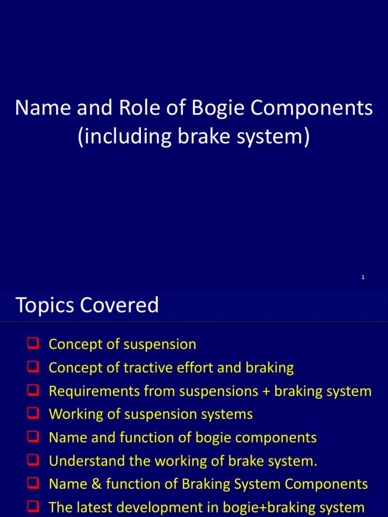 Coach & Wagon Bogies   Suspension (Vehicle)   Vehicle Parts