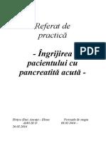 Ingrijirea p Cu Pancreatita an 3 Sem 2