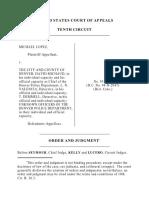 Lopez v. City & CO Of Denver, 87 F.3d 1327, 10th Cir. (1996)