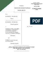 Woodcock v. Chemical Bank, 144 F.3d 1340, 10th Cir. (1998)