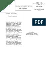 McGuinness v. Regents Univ. of NM, 183 F.3d 1172, 10th Cir. (1999)