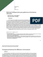 Sistemas transparentes para gobiernos electrónicos eficientes