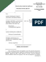 Safeco Insurance v. Skinner, 10th Cir. (2004)