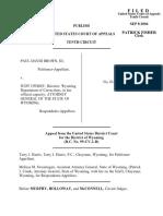 Brown v. Uphoff, 381 F.3d 1219, 10th Cir. (2004)