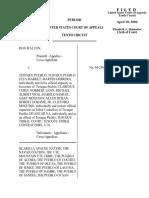 Walton v. Tesuque Pueblo, 443 F.3d 1274, 10th Cir. (2006)