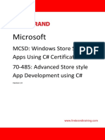 70 485 Mcsd Windows Store Apps Advanced Csharp Courseware