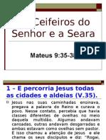 Os Ceifeiros Do Senhor e a Seara Mt 9-35-38