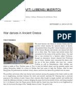 War Dances in Ancient Greece