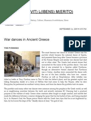 War Dances in Ancient Greece   Zeus   Unrest
