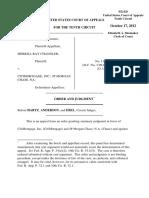 Chandler v. Citimortgage, Inc., 10th Cir. (2012)