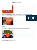 Haga Su Propio Arrego de Frutas Comestibles